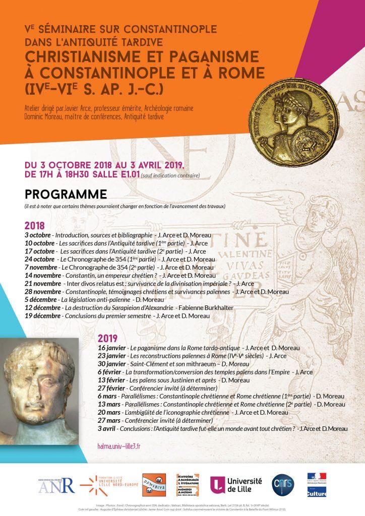 Programme séminaire Constantinople