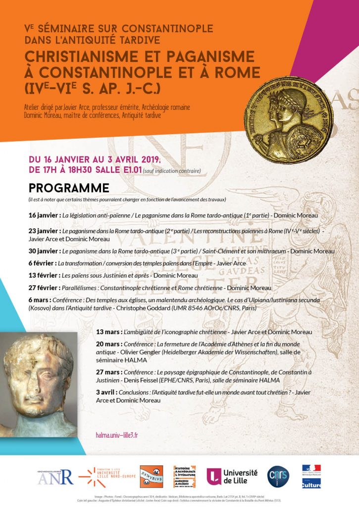 Programme for the Seminar Constantinople - January-April 2019